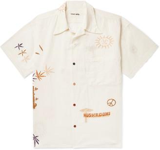 Story mfg. Camp-Collar Printed Organic Cotton Shirt