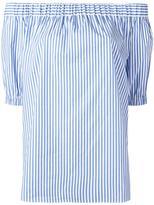 MICHAEL Michael Kors striped off-shoulder blouse