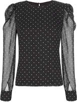 Exclusive for Intermix Alessandra Polka Dot Blouse Pri-Dot S
