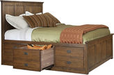 Asstd National Brand Oak Ridge 6-Drawer Storage Bed