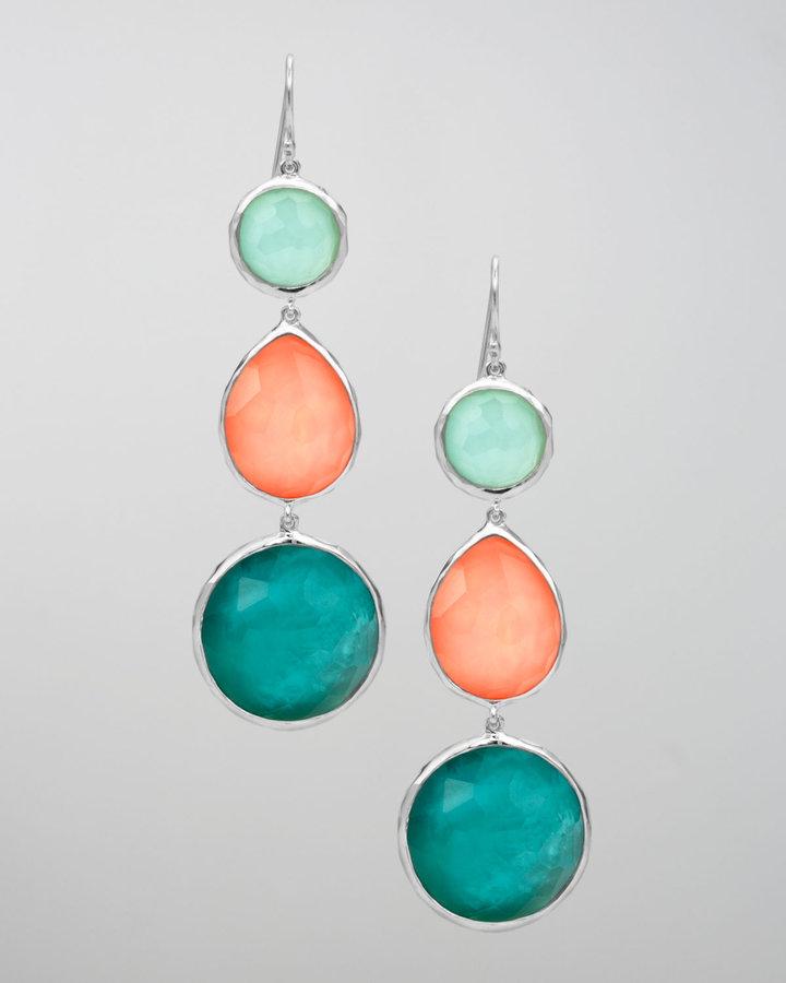 Ippolita Triple-Drop Earrings, Breeze