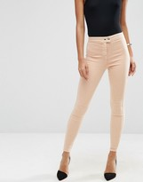 Asos RIVINGTON High Waisted Denim Jeggings in Nude