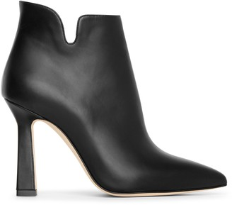 Manolo Blahnik Forlana 105 leather ankle boots