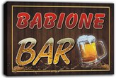 AdvPro Canvas scw3-079127 BABIONE Name Home Bar Pub Beer Mugs Cheers Stretched Canvas Print Sign
