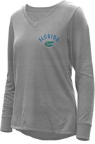 Unbranded Women's Heathered Gray Florida Gators Belle Relaxed Tri-Blend V-Neck Pullover Sweatshirt