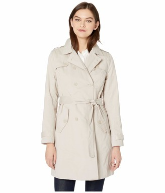 Cupcakes And Cashmere Women's Cydney Double Breasted Cotton Trench
