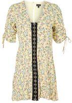 Petite floral hook & eye mini dress
