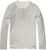 Scotch & Soda Cotton Grandad T-Shirt