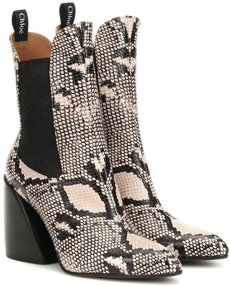 Chloã© Exclusive to Mytheresa a Wave snake-effect ankle boots