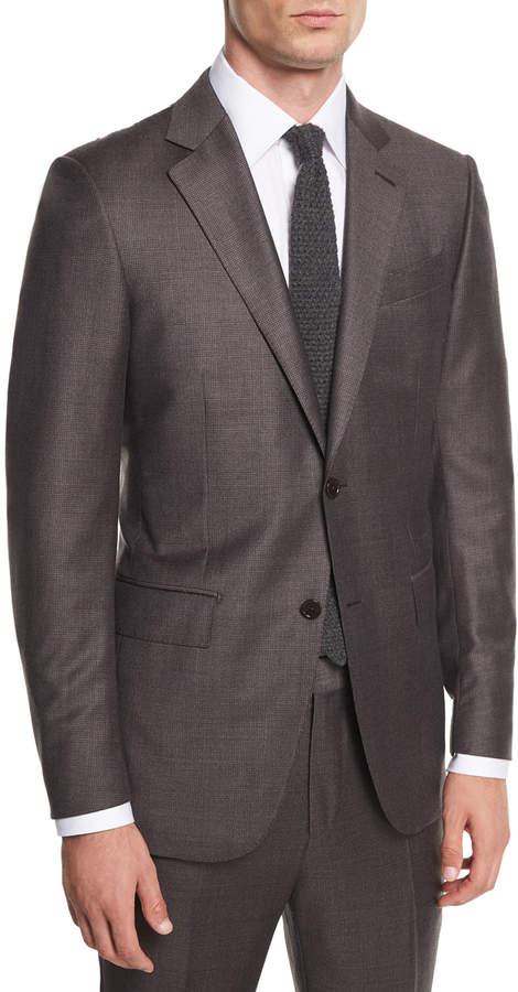 Ermenegildo Zegna Trofeo Plaid Two-Piece Suit
