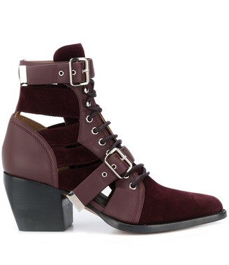 Chloé Rylee 70mm cut-out boots