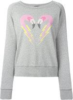 Diesel flamingo heart sweatshirt - women - Cotton - L