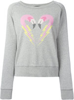 Diesel flamingo heart sweatshirt - women - Cotton - S