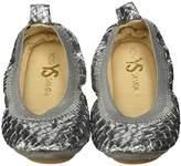 Yosi Samra Girls Sammie Digital Metallic Slip On Ballet Flat (Toddler)