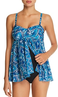 Gottex Birds Of A Feather Bandeau One Piece Swimsuit