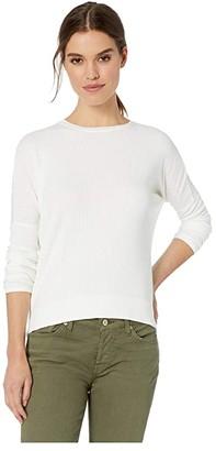 Hard Tail Long Sleeve Float Hem Crew Tee (White) Women's Clothing