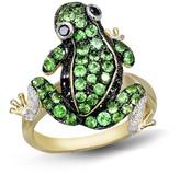 Effy Jewelry Jardin Tsavorite, Dia. & Sapphire Frog Ring, 1.45 TCW