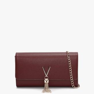 Valentino By Mario Valentino Divina Vino Pebbled Clutch Bag