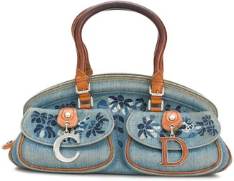 Christian Dior Pre-Owned Embroidered Floral Handbag