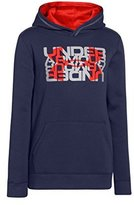 Under Armour Big Boys' UA Rival Fleece Logo X2 Hoodie Youth BLUE KNIGHT