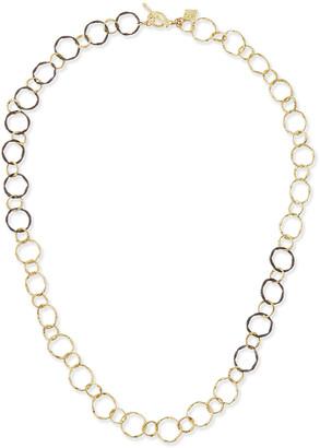 Armenta Midnight & 18k Circle Link Necklace