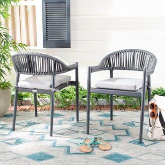 Safavieh Outdoor Living Greer Rope Chair - Grey