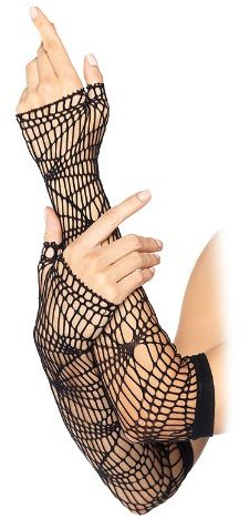 Leg Avenue Distressed Net Arm Warmer