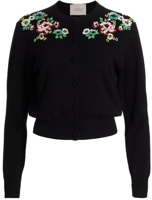 Marc Jacobs The Beaded Love Embellished Button-Up Cardigan