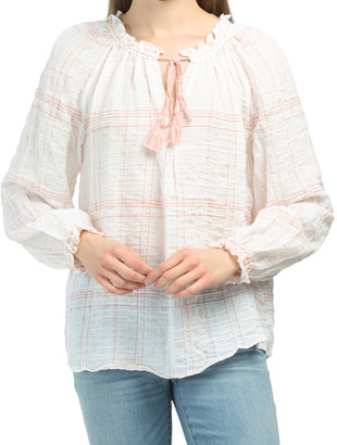 Long Sleeve Spring Plaid Top