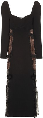 Self-Portrait Ribbed Knit Sheath Dress