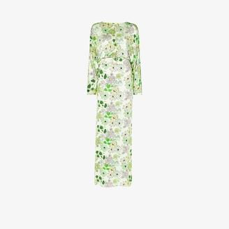 BERNADETTE Elisabeth belted floral maxi dress