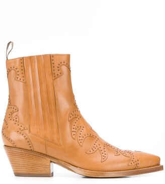 Sartore studded Texan ankle boots