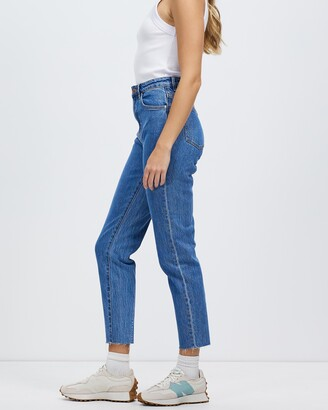Neuw Women's Blue High-Waisted - Lola Mom Jeans - Size 26 at The Iconic