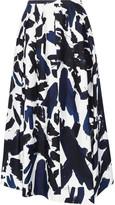 Jil Sander Printed Twill Midi Skirt - Blue