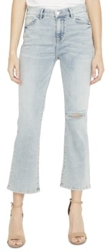 Buffalo David Bitton Ripped Cropped Flared Jeans