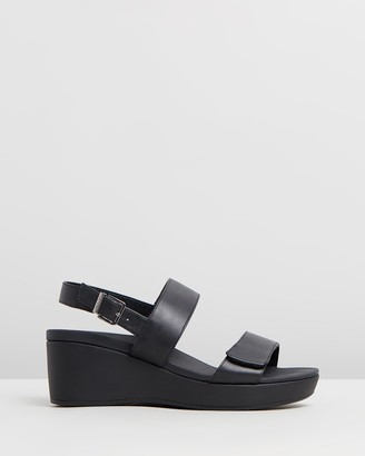 Vionic Women's Black Sandals - Lovell Wedge Sandals - Size One Size, 6 at The Iconic