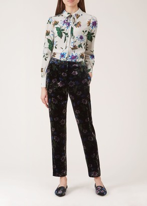 Unlimited Passionflower Velvet Trouser