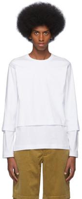 Comme des Garçons Shirt White Layered Long Sleeve T-Shirt