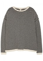 Eileen Fisher Striped Chunky-knit Cotton Blend Jumper