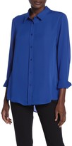 Laundry by Shelli Segal Collared Long Sleeve Blouse