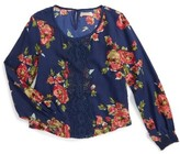 Girl's Zoe And Rose Floral Top