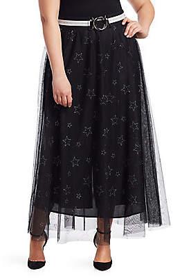Marina Rinaldi Marina Rinaldi, Plus Size Women's Marina Sport Star Print Tulle Skirt