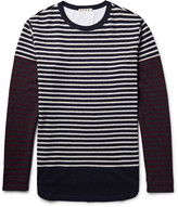 Marni Striped Knitted Wool T-Shirt