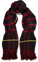 Rag & Bone Mallori Fringed Checked Merino Wool Scarf