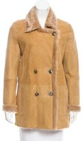 Closed 2016 Double-Breasted Shearling Jacket w/ Tags