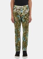 James Long Men's Camo Print Slim Leg Jeans In Green
