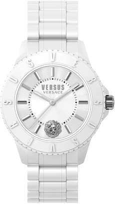 Versace 42mm Watch with White Silicone Strap