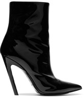 Balenciaga Patent-leather Ankle Boots - Black