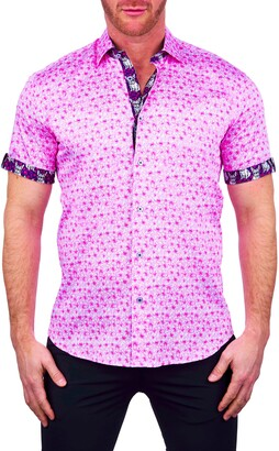 Maceoo Galileo Garden Short Sleeve Button-Up Shirt
