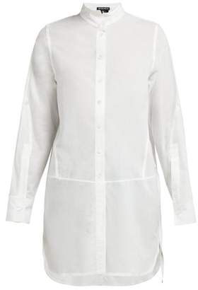 Ann Demeulemeester Grosgrain-trimmed Button-back Cotton Shirt - Womens - White